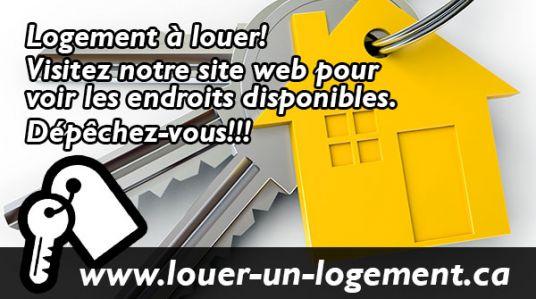 Logements 2 et demi, 3 et demi, 4 et demi et 5 et demi à louer. Présentement disponible situés à deux pas de L'UQTR, Cégep, Collège Laflèche et de l'Hôpital de Trois-Rivières.